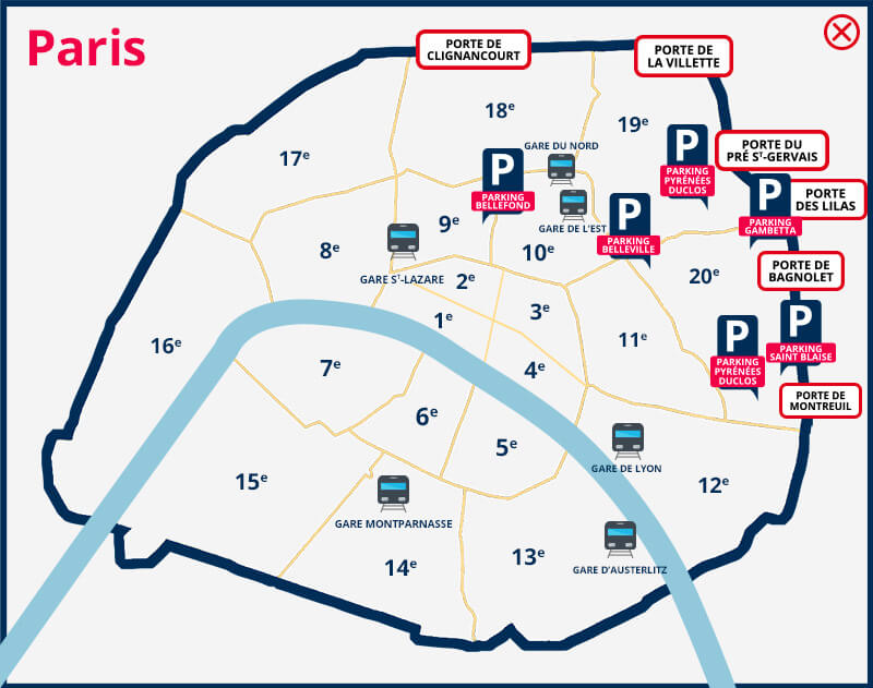 Paris France Parking