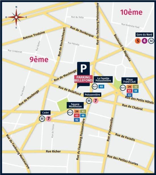 lijst met onze parking in parijs 75009. Black Bedroom Furniture Sets. Home Design Ideas